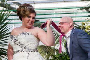 Manon (4) getrouwd, fotoshoot